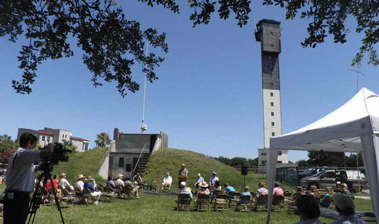 Volunteers and visitors marked the 50th anniversary of the lighthouse in 2012.