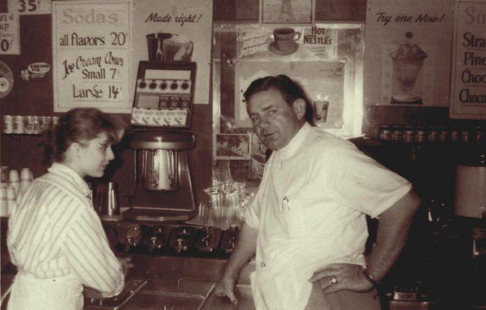 Bert's Pharmacy circa 1954