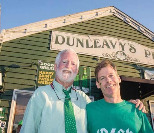 Bill Dunleavy and Jamie Maher of Dunleavy's Pub in Sullivan's Island, SC