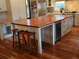 Heart Pine Kitchen Island