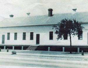A historic photo of the Post Quartermaster's Office in Sullivan's Island