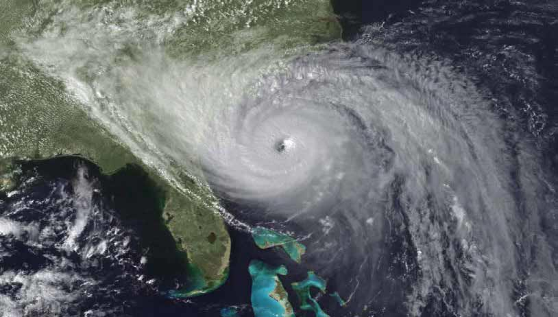 Hurricane Hugo approaches the South Carolina coast
