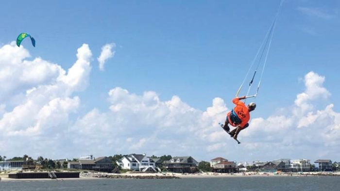 Kiteboarding at Sullivan's Island, SC. Photo courtesy of Sealand Adventure Sports