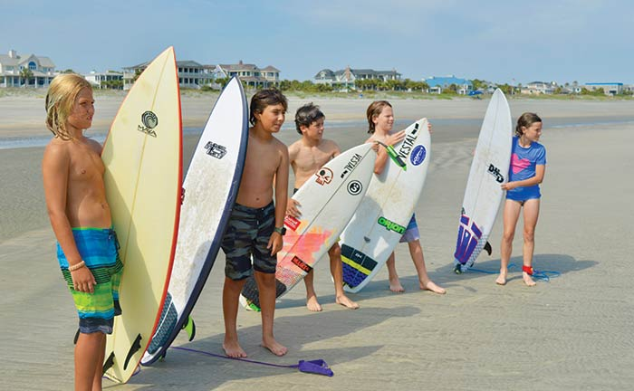 Local Sullivan's Island kids Hit the Waves
